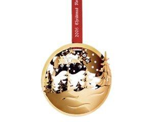 Amazon.com: Georg Jensen Golden Christmas Ornament 2006 - Winter ...