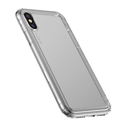 iPhone 8 Plus Case, iPhone 7 Plus Case, Baseus Tough PC and Flexible TPU Ultra Slim Clear Case Premium Hybrid Protective Cover for Apple iPhone X 8 7 Plus 6/6s (black)