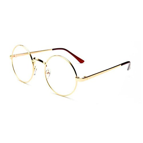 TOOPOOT Clearance Deals Glasses,Unisex Clear Lens Sunglasses Metal Frame Mirror Rounded Eyewear - Sunglasses Clearances