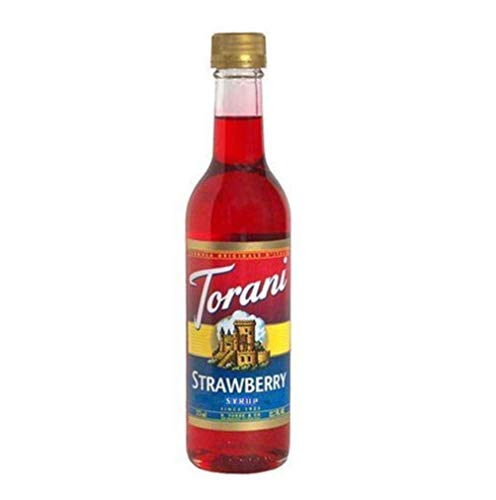 Torani Strawberry Syrup, 12.7 Ounces (Strawberry Syrup Drink)