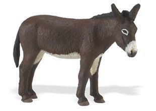 Farm Figurine - Safari Ltd. Farm Donkey – Realistic Hand Painted Toy Figurine Model – Quality Construction from Phthalate, Lead and BPA Free Materials – For Ages 3 and Up