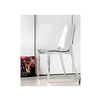 chaise de cuisine design transparente