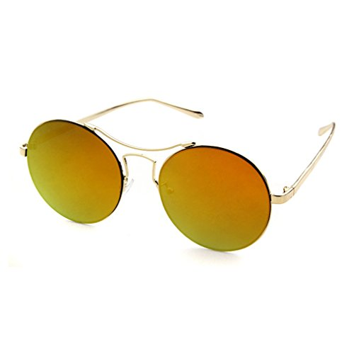 LOMOL 2016 New Girls Fashion Trendy Cute Colorful UV Protection Round - Prescription Glasses Simulator