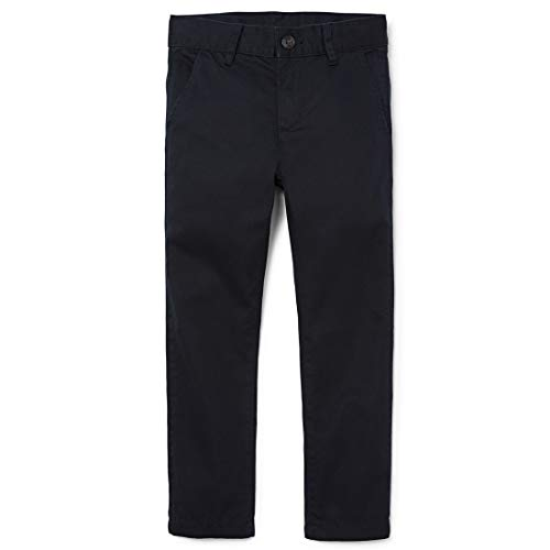 The Children's Place Little Boys' Skinny Chino Pants, New Navy, 7