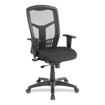 Lorell LLR86205 Executive High-Back Swivel Chair Black (Fabric Height Back Adjustment)