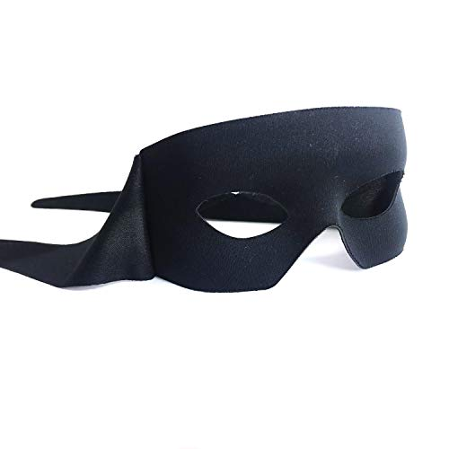Samantha Peach Zorro Black Mens Masquerade Mask - Italian -