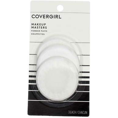CoverGirl Makeup Masters Powder Puffs, 3 ct, 2 pk (Velvet Mineral Pressed Foundation)