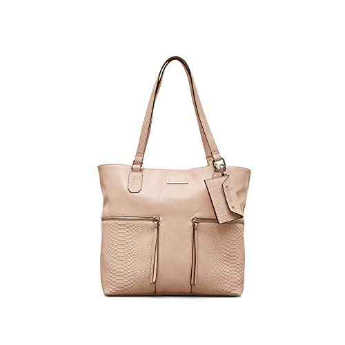 Reaction Kenneth Cole Gina Python Embossed Tote - Women's - Pink ()