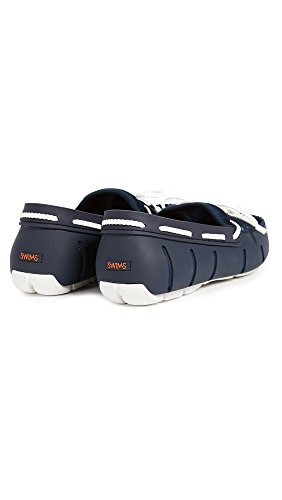 Men's SWIMS Lace Navy Braided White Loafers wYw0qxAP