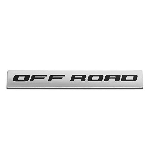 - UrMarketOutlet OFF ROAD Black/Chrome Aluminum Alloy Auto Trunk Door Fender Bumper Badge Decal Emblem Adhesive Tape Sticker