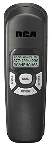 RCA 1104-1BKGA - Teléfono (Analógica, Escritorio, Negro, Digital, ENG, ESP, FRE, LCD)