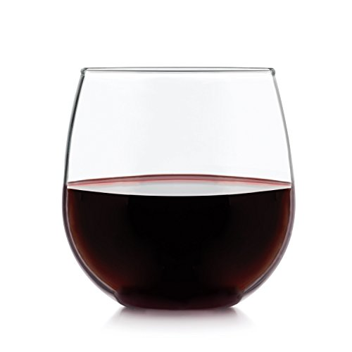 Libbey Stemless Red Wine Glasses, Set of (Libbey Glass Red Wine Glass)