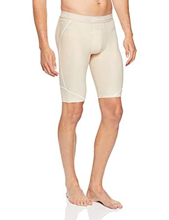 SKINS Men's DNAmic Compression Team Half 1/2 Tights Capri Shorts, Neutral, X1L