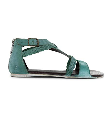 - ROAN Women's Posey Leather Sandal (10 M US, Moss White BFS)