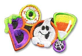 Cub Girl Boy BOO - HALLOWEEN Embroidered Iron-On Fun Patch Crests Badge Scout Guides]()