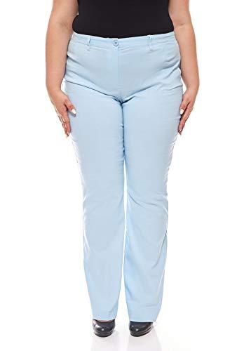 Longue Grande Sheego Bengalin Taille Pants Bleu Clair Taille Stretch q7WRZtWP