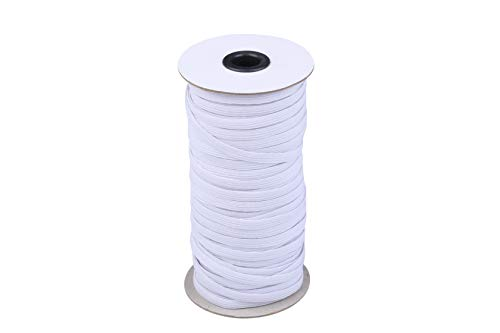 I-MART Elastic Cord, Elastic Band, Elastic Rope, Bungee, Heavy Stretch Knit Elastic Spool (White 70-Yard Length 0.25 inch Width)