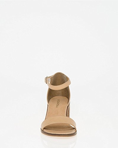 CHÂTEAU Strap Leather Women's LE Sand Ankle Sandal Chic TcdP6vf6q