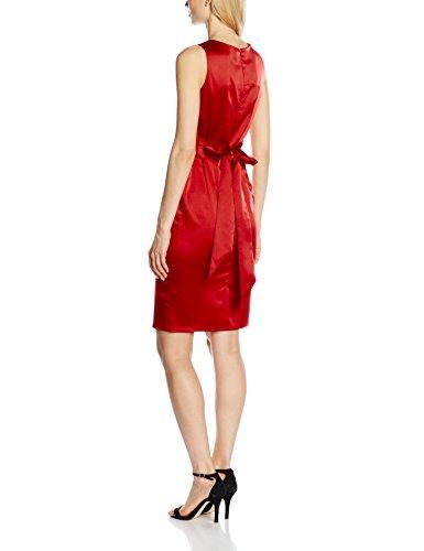 Squash Hot Vestito Waisted Rosso Pleat Lucy Donna dFwrxqFS