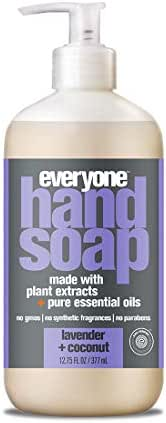 Everyone Hand Soap with Natural Botanical Ingredients and Essential Oils, Lavender and Coconut, 6 Count