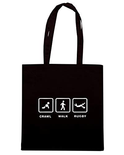Borsa Shopper TRUG0123 Nera RUGBY Shirt Speed RFgq55