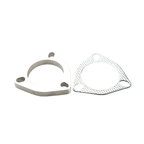 "AdlerSpeed 3.5"" ID Stainless Steel Exhaust Flange And Exhaust Gasket 3 Bolt - US Shipping"
