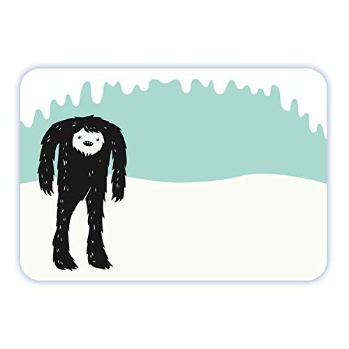Avery Yeti Name Tags, Abominable Snowman, Christmas Gift Tags, Party Favors, No Lift, Handwrite Only, 36 Name Tags
