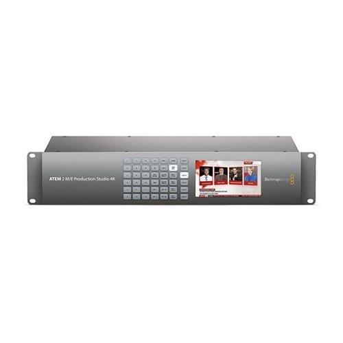 EM 2 M/E Production Studio 4K, 4 Upstream & 2 Downstream Keyers, 22-Input Audio Mixer, 20 6G-SDI & 1 HDMI Inputs (Hd Sdi Mixer)