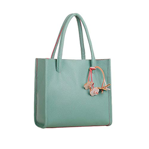 Big Sale! Fashion Elegant Girls Handbags PU Leather Shoulder Bag Clutches Candy Color Flowers Women Totes Purse (Green) by Challyhope (Image #3)