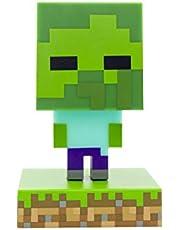 Paladone Minecraft Zombie Icon Light BDP mini-nattlampa med rolig pixel, superljus, plast, flerfärgad
