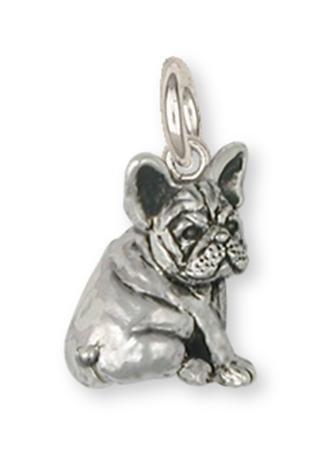 French Bulldog Jewelry Sterling Silver French Bulldog Charm Handmade Dog Jewelry FR21-C