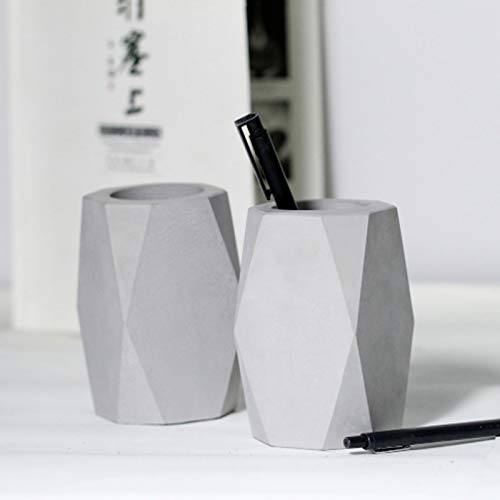 Concrete Planter Best Quality - Clay Molds - Creative Geometric Polygon Cement Pen Container Silicone Mold Clay Crafts Home Decoration Concrete Planter Pencil vase molds - by GTIN - 1 PCs