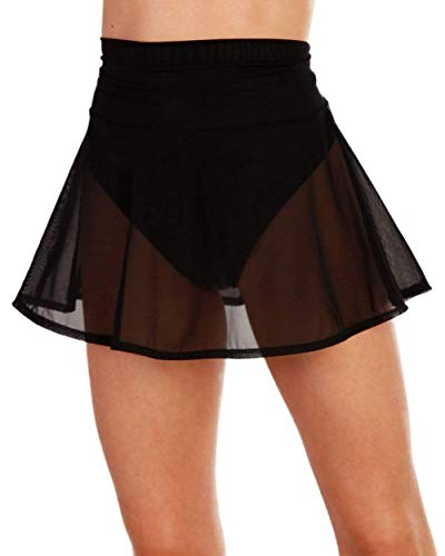 iHeartRaves Women's Mini Skirts - Bodycon Rave Festival Skirts Sheer Sparkly