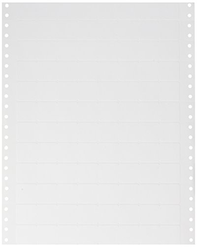 Compulabel Pinfeed Labels Fanfold Permanent Adhesive, 1'' x 15/16'', White (161100) by Compulabel