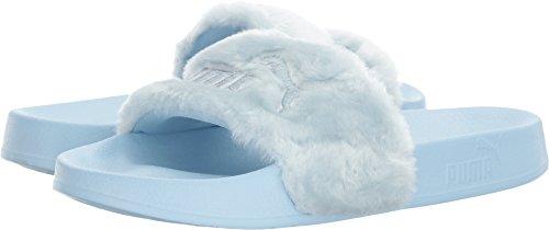 new arrival 12ca1 13dad PUMA Women's FENTY x PUMA Faux Fur Slides, Cool Blue/Puma - Import It All