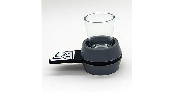 Spin The Shot Bar Juegos de Entretenimiento para Adultos, Juego de Beber con Alcohol, Mesa giratoria de Cristal, Juegos de Mesa roja (Flecha) y Negra (Verde) Enviar al Azar: Amazon.es: Deportes y