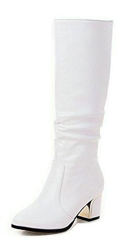 Blanc Pwrqpgyhux Classique Haute Bottes À Tige Enfiler Aisun Femme qdw1Cqf