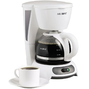 Mr. Coffee 4-Cup Switch Coffee Maker, White