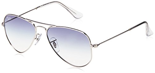 Ray-Ban Junior RJ9506S Aviator Kids Sunglasses, Silver/Blue Gradient, 52 mm