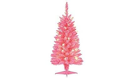George 3 Foot 90cm Pink Small Pre Lit Christmas Tree Amazon Co Uk
