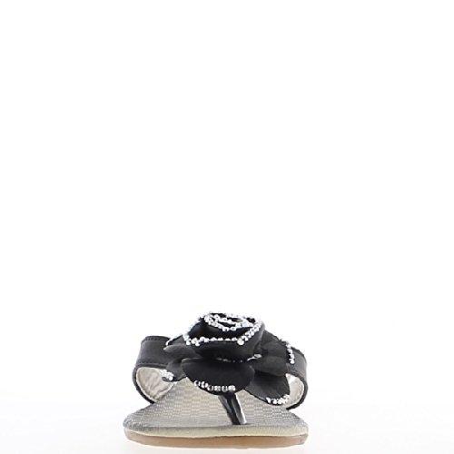 Fiore nero arredamento muli tacco 2,5 cm