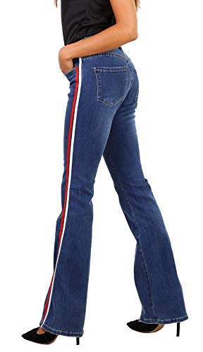 Para A Vaqueros Acampanados 42 Talla Mujer De 1 Stretch Pantalones 34 Newplay Azul Bootcut Ptwdgxg