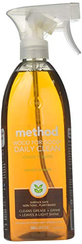 Method Daily Clean Wood For Good Daily Clean + Dust Almond 28 Oz, Pack of 4 (28 Oz x 4, Total 112 Oz)
