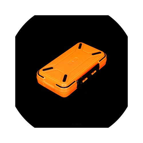 Fishing Tackle Boxes Double Layer Compartments Lure Fishing Box S/M/L Fly Fishing Tackle Boxes Accessories,Orange M