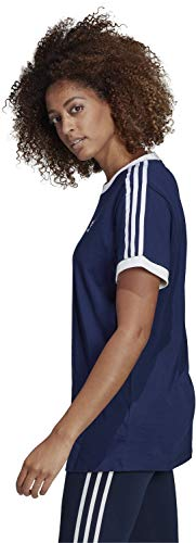 3 Maglietta Donna Stripes Adidas Tee Blu Ux1F6