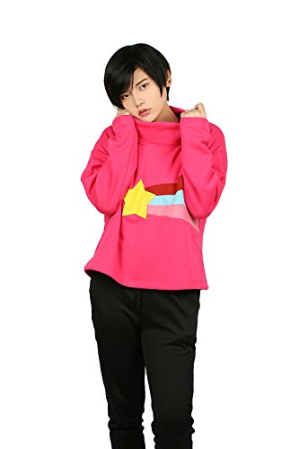 Mabel And Dipper Costume (Lady's Mabel Hoodie Deluxe Red High Neck Sweatshirt Gravity CL Costume S)
