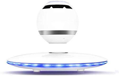 NOOYC Cool Tech Gadgets Suspended Magnetic, Nightlight Anti-Gravity Levitate Speaker LED Light for pc Computer,White