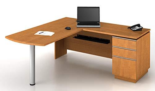 The Bush Business Furniture Milano2 Collection 66W Left Peninsula Desk in Golden Anigre ()