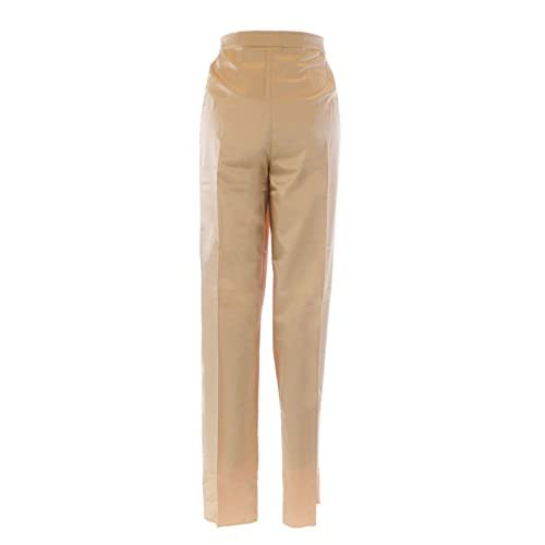 c6c6418037e MARINA RINALDI by MaxMara Branca Champagne Unhemmed Dress Pants hot sale