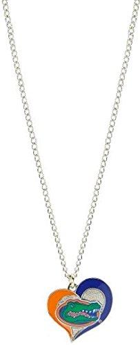 aminco NCAA Florida Gators Team Logo Swirl Heart Necklace Charm, Multi, One Size